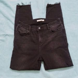 PacSun Jeans - PACSUN Black High Rise Distressed Jegging (28)